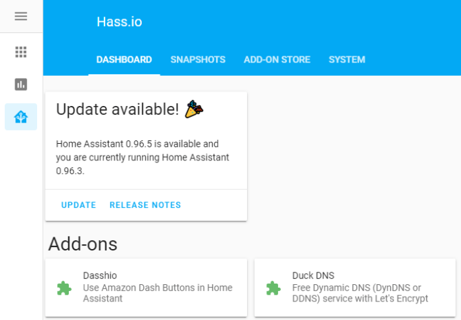 Hass.io, smart home