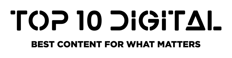Top 10 digital white logo