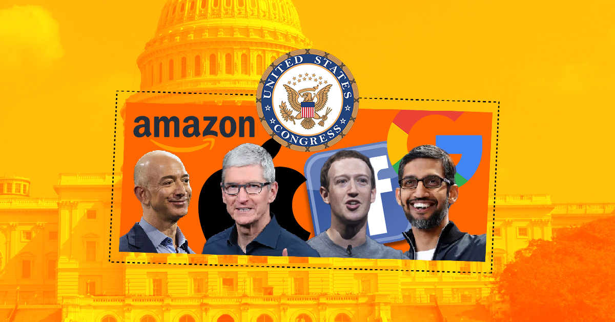 Congress Hearing of The CEOs of Apple, Google, Facebook, and Amazon