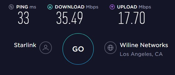 Upload and download speed