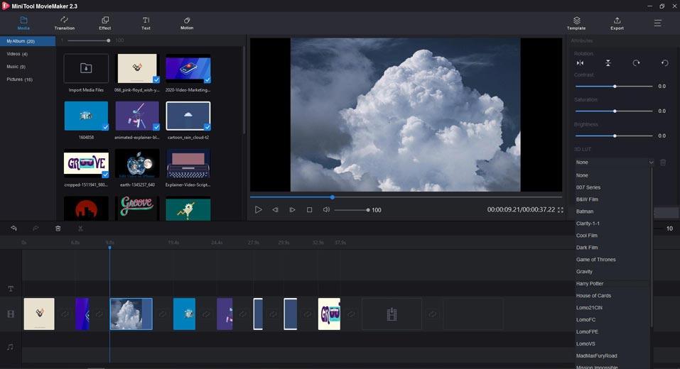 Slideshow with MiniTool movie maker