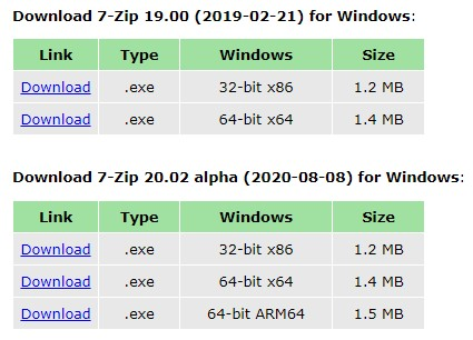 7 ZIP a file archiver